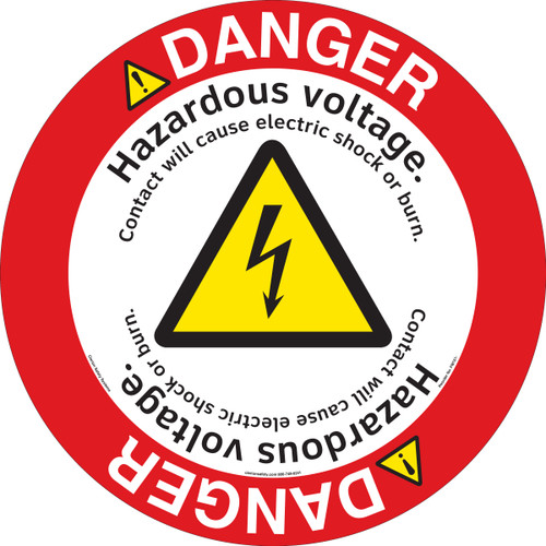 Danger/Hazardous Voltage Floor Marker (FM151-)