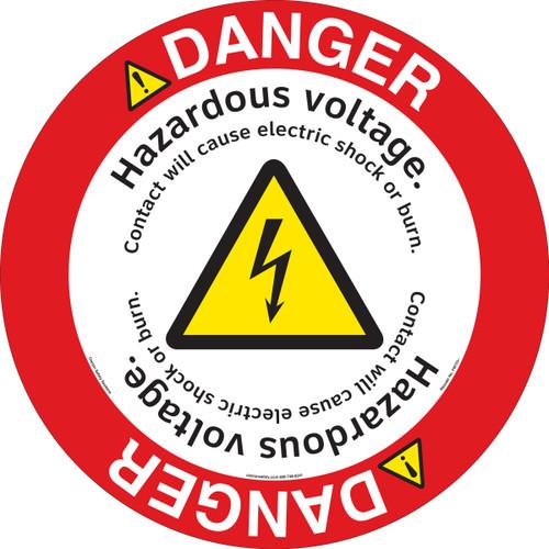 Danger/Hazardous Voltage Floor Marker (FM153-)