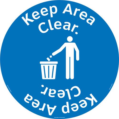 Keep Area Clear Floor Marker (FM157-)