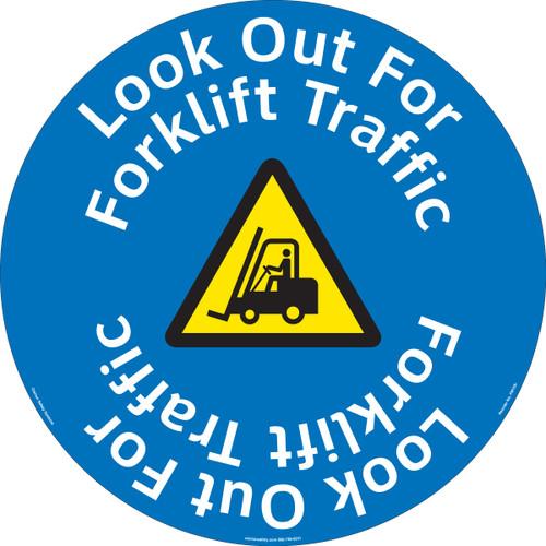 Look Out For Forklift Floor Marker (FM159-)