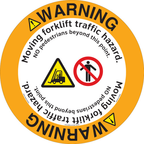 Warning/Moving Forklift Floor Marker (FM165-)