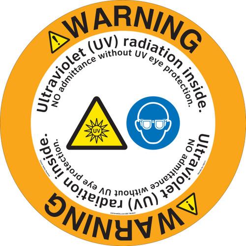 Warning/Ultraviolet (UV) radiation inside. NO admittance without UV eye protection.(FM177-)
