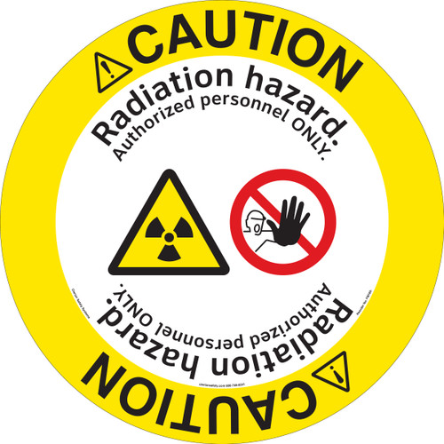 Caution/Restricted area. NO admittance for unauthorized personnel. Radiation hazard.(FM185-)