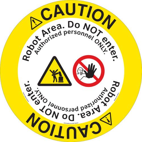 Caution/Robot Operating Area Floor Marker (FM191-)