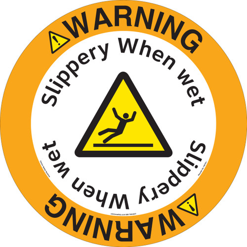 Warning/Slippery When wet.(FM193-)