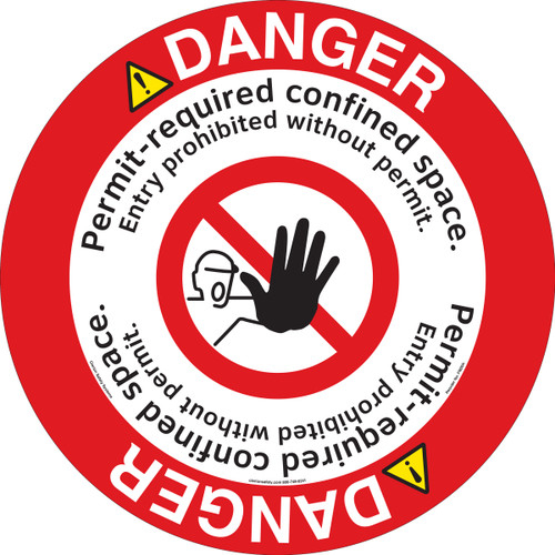DANGER/Permit-required confined space (FM204-)