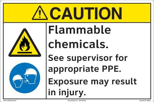 CAUTION/Flammable Chemicals (FM206-)