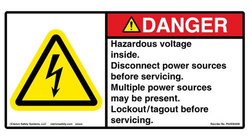 Danger/Hazardous Voltage (P03SS0206)