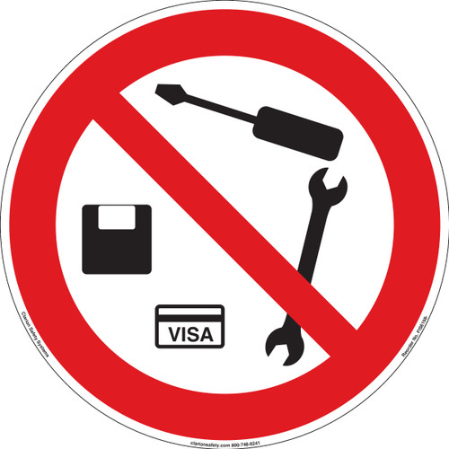 No Metal Objects or Magnetic Media (FIS6198-)