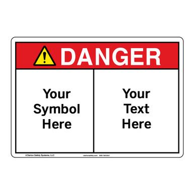 Custom Danger Sign - Symbol and Text