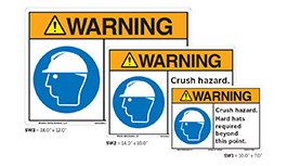 Safety Label, Sign and Tag Sizes and Shapes