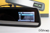 DVR-VC900 rear view mirror style dash cam - built-in display showing video menu