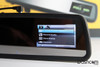 DVR-VC900 rear view mirror style dash cam - built-in display showing more video menu