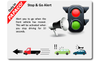 PAPAGO! P3 dash cam safety feature: Stop & Go Alert