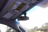 Slip-on visor mount for dashcams with threaded mounts | In-car example photo with DVR-207GS dash cam passenger's side view close up