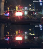 Polarizing Filter for DR430/450/470/590 BlackVue dashcams | Night Comparison Photo With/Without Filter 1