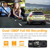 Vantrue N2 Pro Dual Lens Dual 1080p Dash Cam | for Front + Inside Video and Audio Recording Diagram