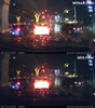 Polarizing Filter for BlackVue DR900S Dash Cams | Nighttime Comparison Photo With/Without Filter 1