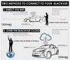 BlackVue DR750S-2CH-IR Dash Cam DIY Bundle | WiFi Direct Connection Diagram