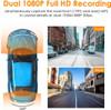 Vantrue S1 Dual Lens Low-Light Dash Cam   170° Front Lens and 160° Rear Lens Coverage Diagram