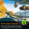 Vantrue S1 Dual Lens 1080p Low-Light Dash Cam | Super Capacitor for Heat Tolerance and Reliability