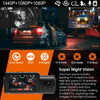Vantrue N4 Dash Cam | 3-Channel Solution for Front, Inside & Rear | High Resolution and Super Night Vision