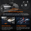 Vantrue N4 Dash Cam | 3-Channel Solution for Front, Inside & Rear | 24 Hour Parking Mode Capable
