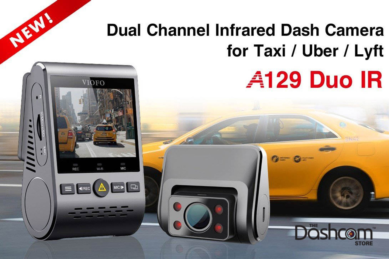 VIOFO A129 Duo IR Dual Dash Cam Taxi Front and Interior Camera Infrared Night Vision Full HD 1080P Wi-Fi Car Dash Camera GPS Included G-Sensor Buffered Parking Mode Motion Detection