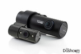 BlackVue DR650GW-2CH-IR dash cam front and secondary (inside-facing) cameras, note IR LEDs on rear camera