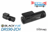 BlackVue DR590-2CH Dual-Lens Dual 1080p HD Dash Cam   For Front and Rear Audio and Video Recording