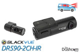 BlackVue DR590-2CH-IR Dual-Lens Dashcam for Front and Inside Audio and Video Recording, with Night Vision