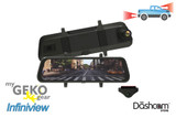 GEKO InfiniView Digital Rearview Mirror Dual Lens Dashcam | For Sale at The Dashcam Store