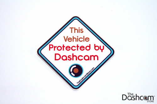 Sticker - This Vehicle Protected by Dashcam - Copyright © 2015 The Dashcam Store™