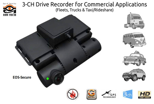 EOS Tech VT-300 Multi-Channel Fleet Tamper-Proof Dash Cam with GPS Tracking Telematics