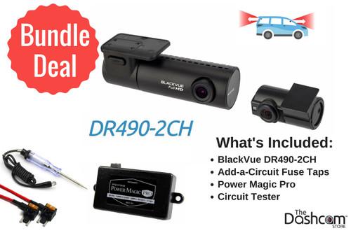BlackVue DR490-2CH Dash Cam DIY Bundle   Kit Includes DR490-2CH Dash Cam, Power Magic Pro, Test Light, Fuse Taps