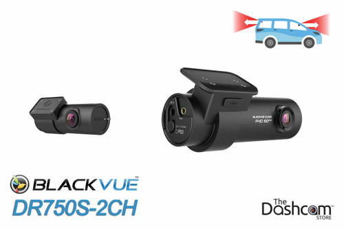 DR750S-2CH BlackVue Dual-Lens Dual 1080p Dashcam | For Front and Rear Video and Audio Recording
