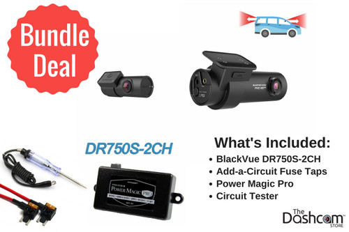 BlackVue DR750S-2CH Dash Cam DIY Bundle | Package Contents