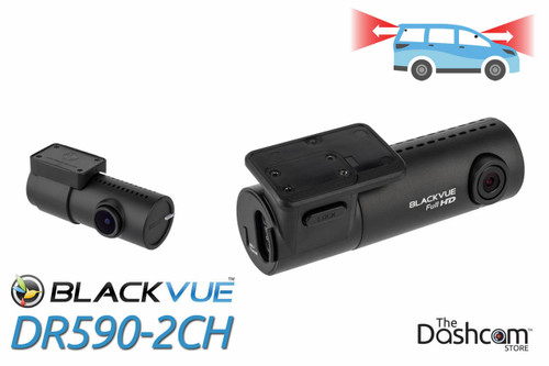 BlackVue DR590-2CH Dual-Lens Dual 1080p HD Dash Cam | For Front and Rear Audio and Video Recording