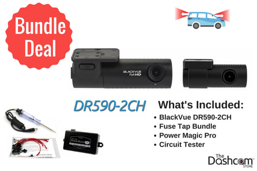 BlackVue DR590-2CH Dash Cam DIY Bundle