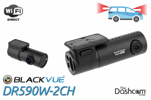 BlackVue DR590W-2CH Dashcam | For Front and Rear-Facing Video and Audio Recording with WiFi