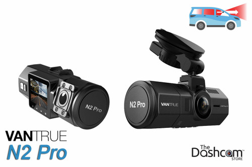 Vantrue N2 Pro Dual Lens 1080p Night-vision Dash Cam   for Front + Inside Video and Audio Recording
