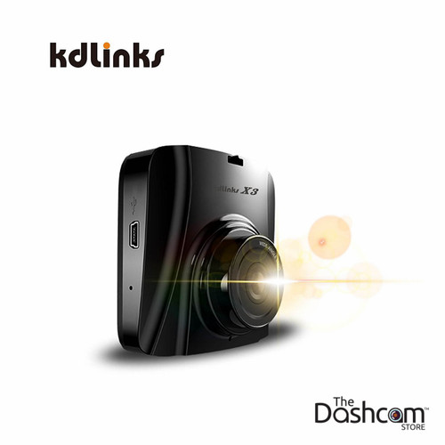KDLINKS X3 SuperHD Wide Angle Dashcam with G-Sensor & Wide Dynamic Range | For Forward-Facing Recording