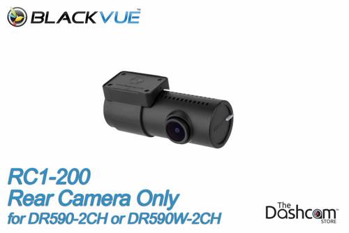 BlackVue DR590-2CH, DR590W-2CH or DR590X-2CH Secondary (rear-facing) 1080p Camera | Camera and Mounting Bracket Included