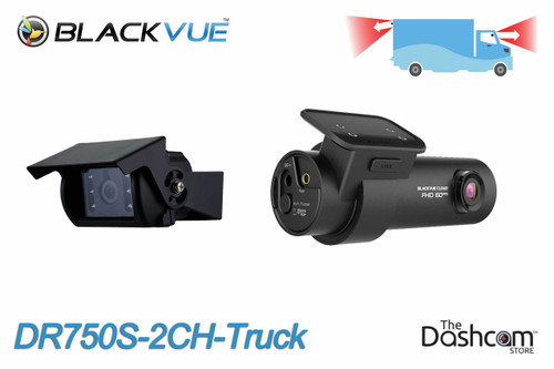 BlackVue DR750S-2CH-Truck Dual 1080p Dash Cam with Waterproof External Rear Camera   Box Truck Example Coverage
