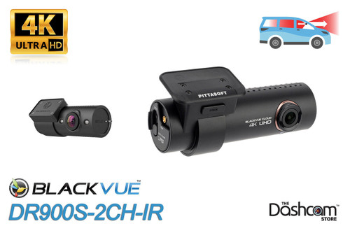 BlackVue DR900S-2CH-IR 4K Dual Lens Front + Infrared Nightvision Inside-Facing Dashcam | For Sale