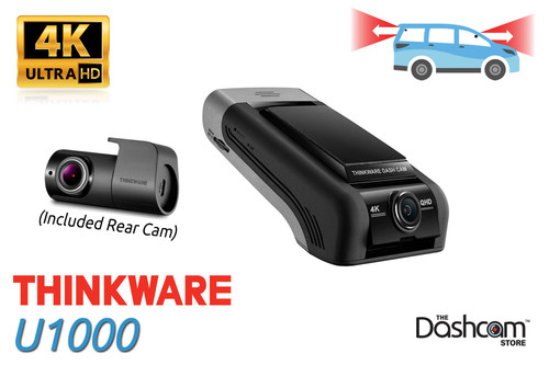 Thinkware U1000 4K Ultra HD Dual Lens Dash Cam   Includes Front and Rear Camera