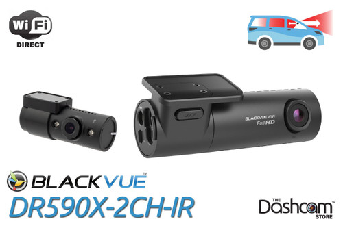 BlackVue DR590X-2CH-IR Dash Cam   For Front + Inside Infrared Nightvision Recording