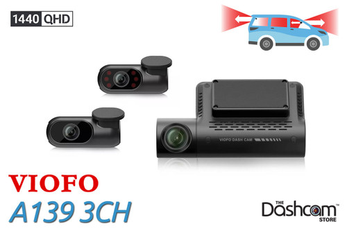 Viofo A139 3 Channel 2K Triple Lens Dash Cam | For Sale At The Dashcam Store