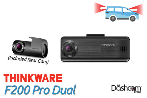 Thinkware F200 Pro Dual Lens Dashcam | For sale at The Dashcam Store