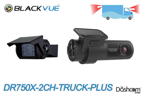 BlackVue DR750X-2CH-Truck-PLUS Cloud-Ready Dash Cam w/ Waterproof Exterior Rear Camera | Brand New For Sale